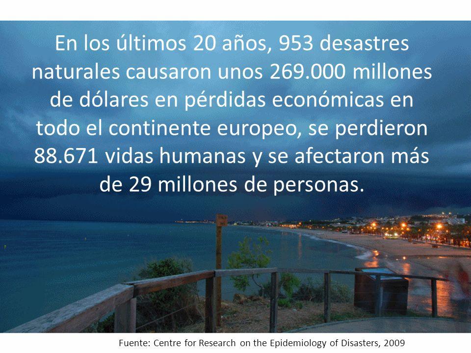 En los últimos 20 años, 953 desastres naturales causaron unos 269