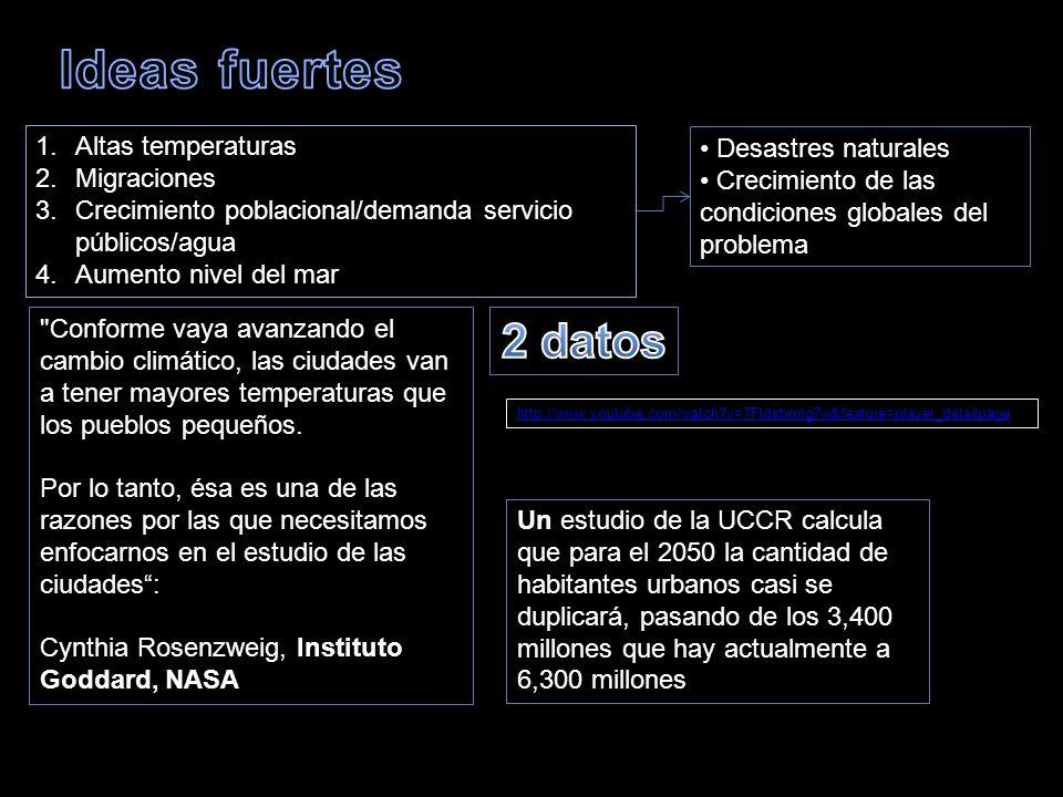 Ideas fuertes 2 datos Altas temperaturas Desastres naturales