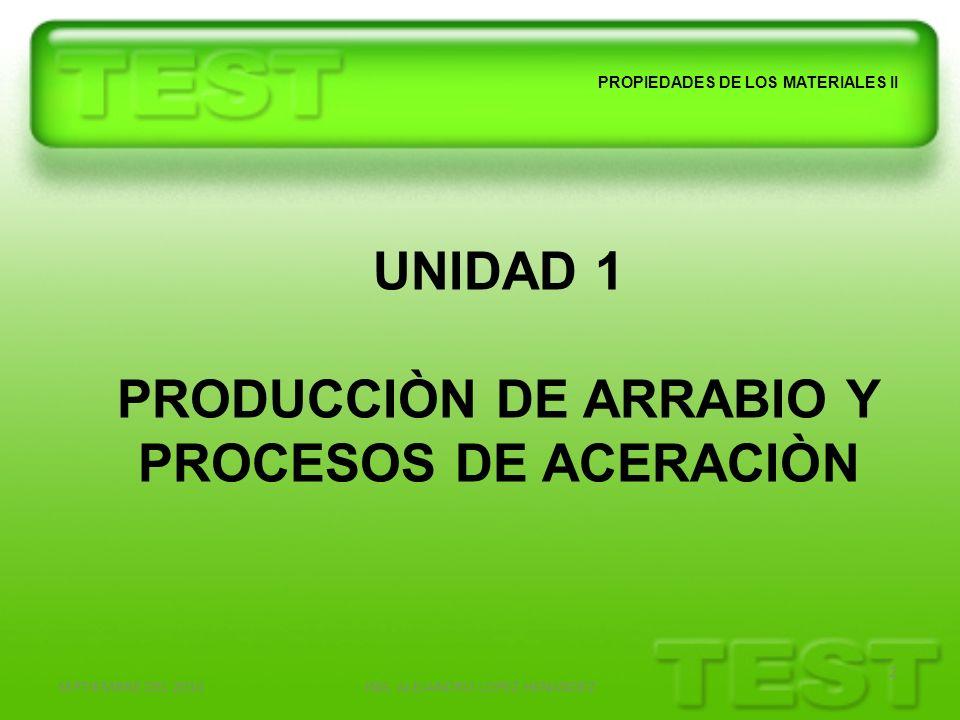 PRODUCCIÒN DE ARRABIO Y PROCESOS DE ACERACIÒN