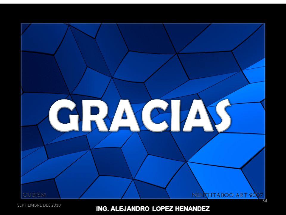 GRACIAS SEPTIEMBRE DEL 2010 ING. ALEJANDRO LOPEZ HENANDEZ