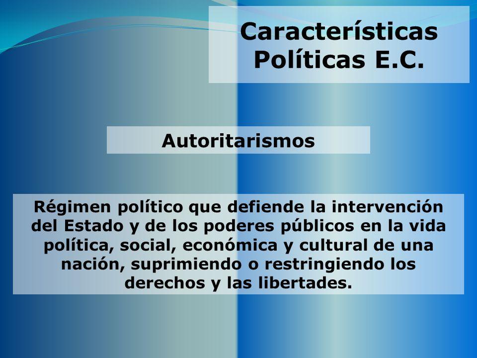 Características Políticas E.C.