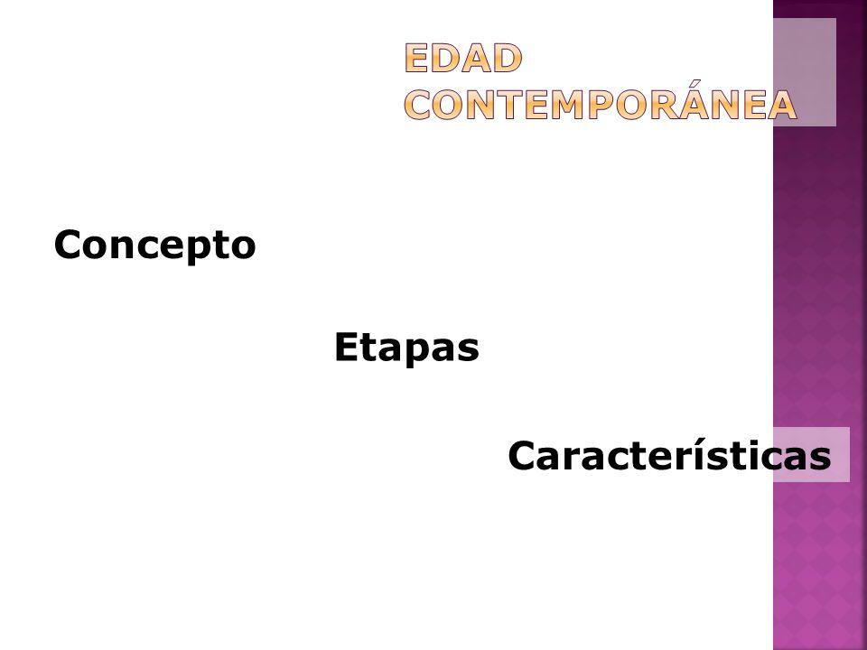 Edad Contemporánea Concepto Etapas Características