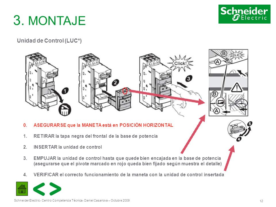 3. MONTAJE Unidad de Control (LUC*)
