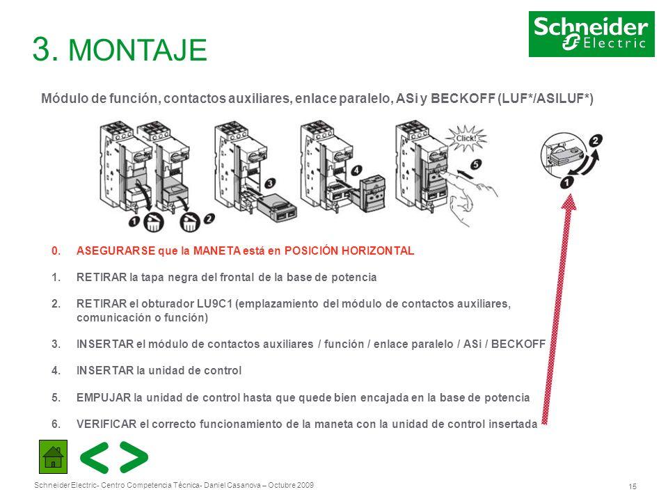3. MONTAJE Módulo de función, contactos auxiliares, enlace paralelo, ASi y BECKOFF (LUF*/ASILUF*)