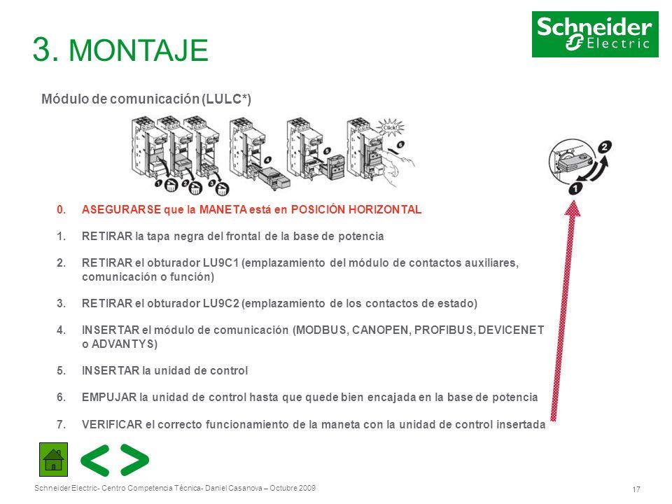 3. MONTAJE Módulo de comunicación (LULC*)