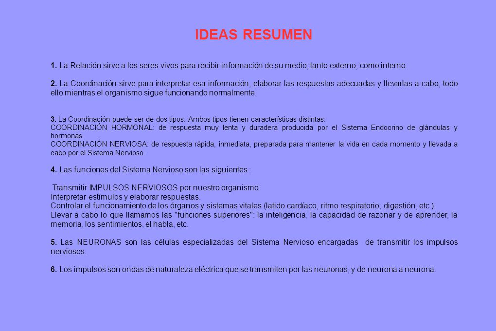 IDEAS RESUMEN TAREA: 1ª Lee, Comprende y memoriza estas ideas.