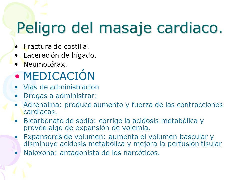 Peligro del masaje cardiaco.