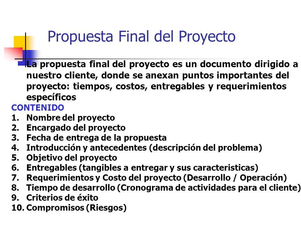 Propuesta Final del Proyecto