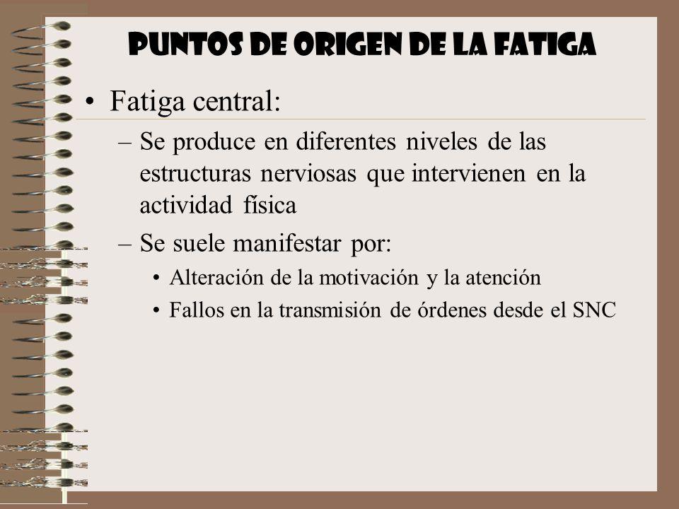PUNTOS DE ORIGEN DE LA FATIGA