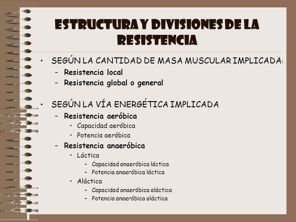 ESTRUCTURA Y DIVISIONES DE LA RESISTENCIA