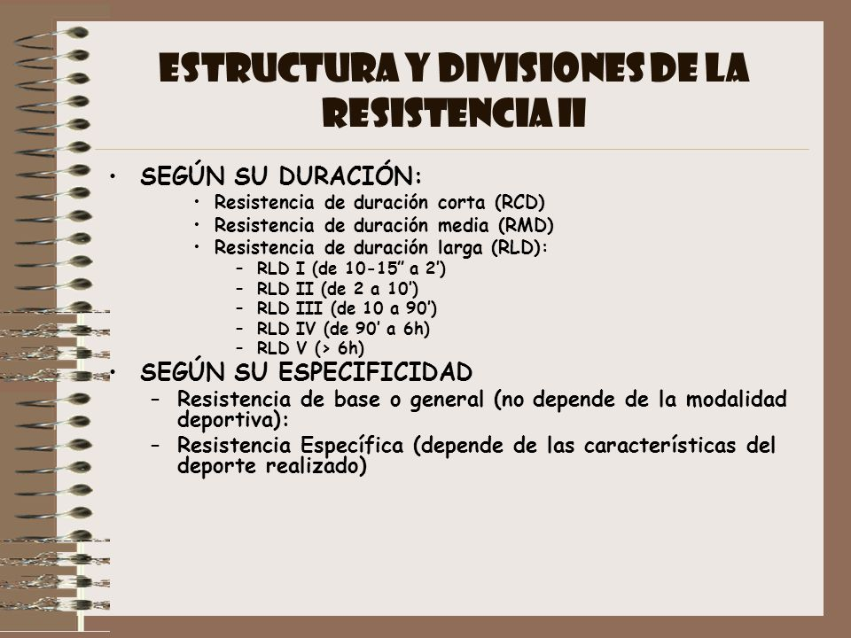 ESTRUCTURA Y DIVISIONES DE LA RESISTENCIA II