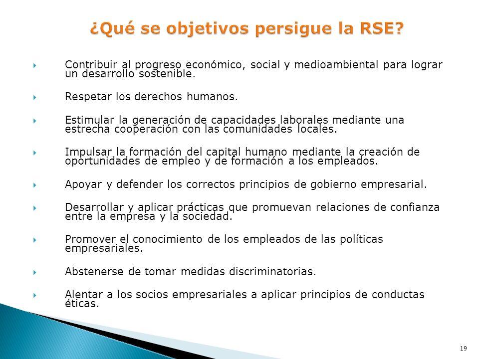 ¿Qué se objetivos persigue la RSE