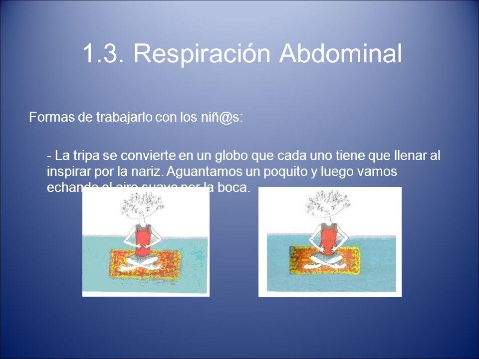 1.3. Respiración Abdominal