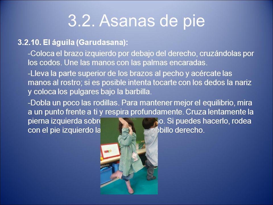 3.2. Asanas de pie 3.2.10. El águila (Garudasana):