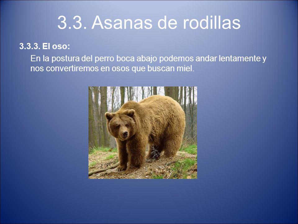 3.3. Asanas de rodillas 3.3.3. El oso: