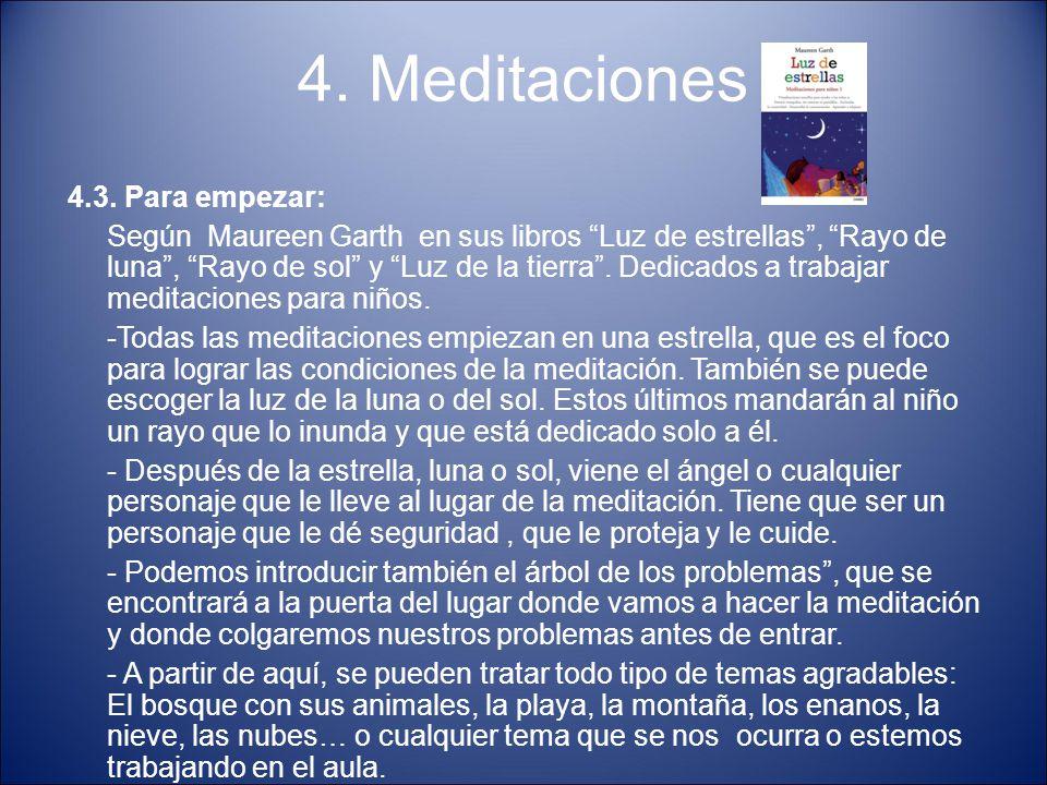 4. Meditaciones 4.3. Para empezar:
