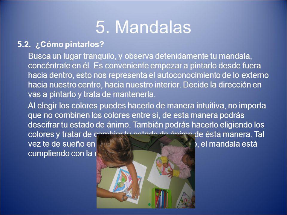 5. Mandalas 5.2. ¿Cómo pintarlos