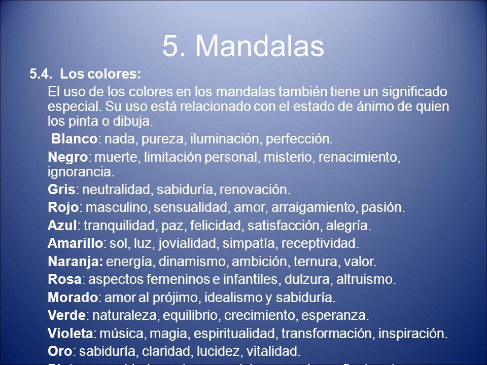 5. Mandalas 5.4. Los colores: