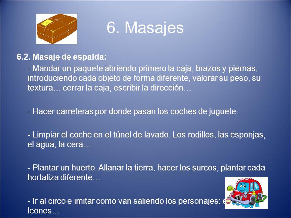 6. Masajes 6.2. Masaje de espalda: