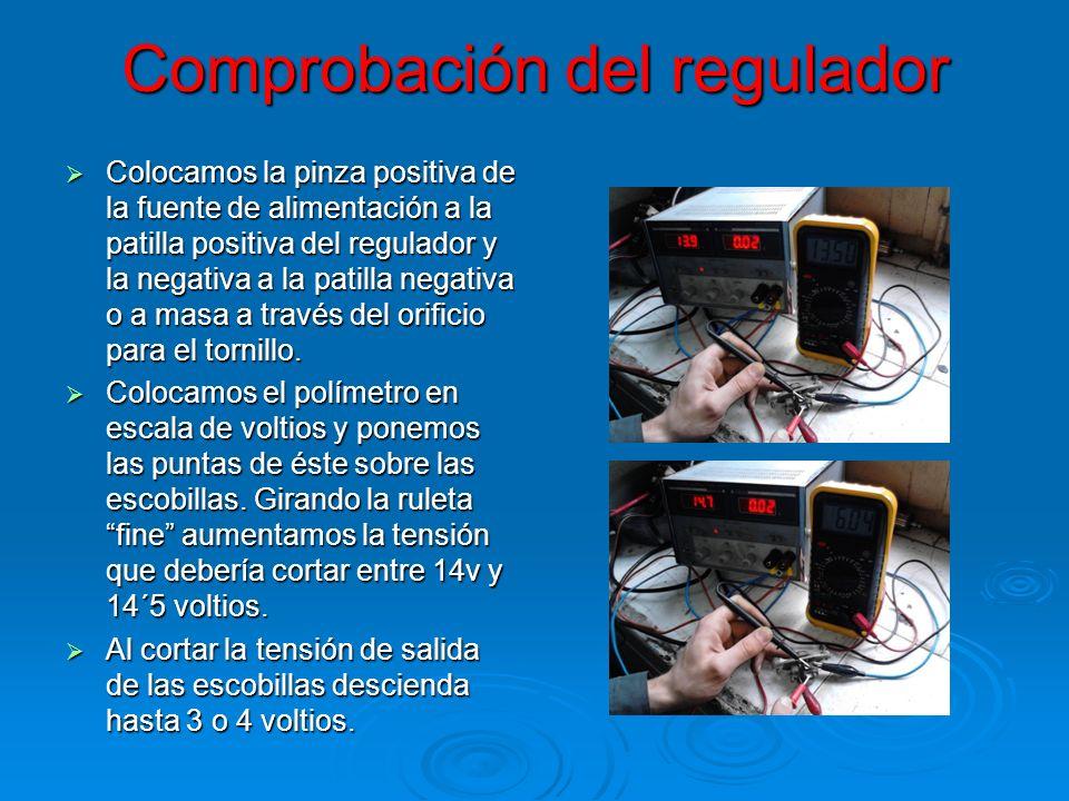 Comprobación del regulador