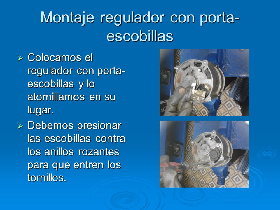 Montaje regulador con porta-escobillas