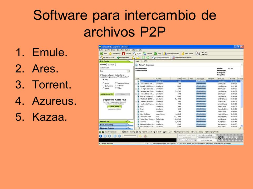 Software para intercambio de archivos P2P