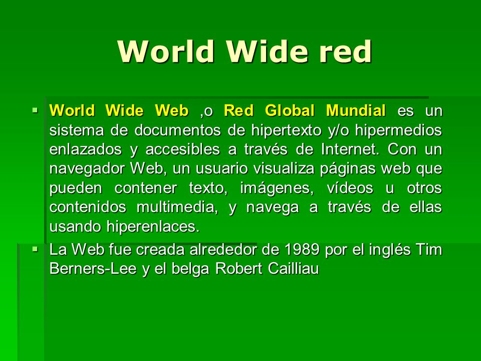 World Wide red