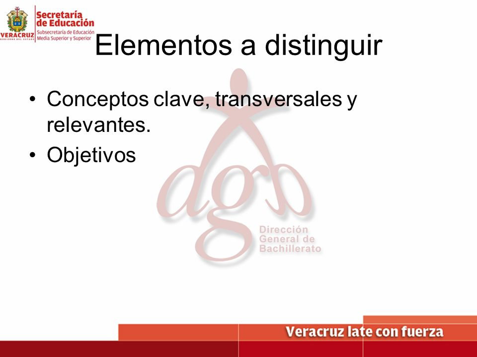 Elementos a distinguir