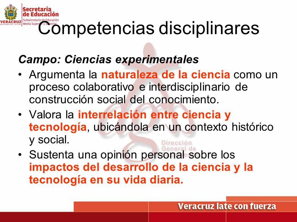 Competencias disciplinares