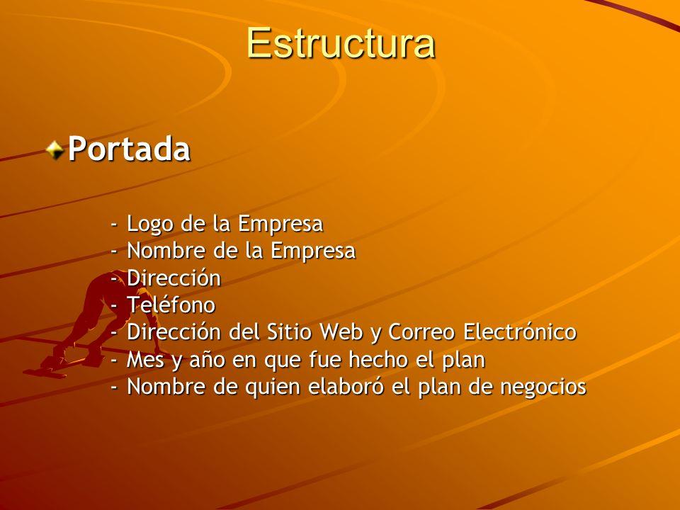 Estructura Portada - Logo de la Empresa - Nombre de la Empresa