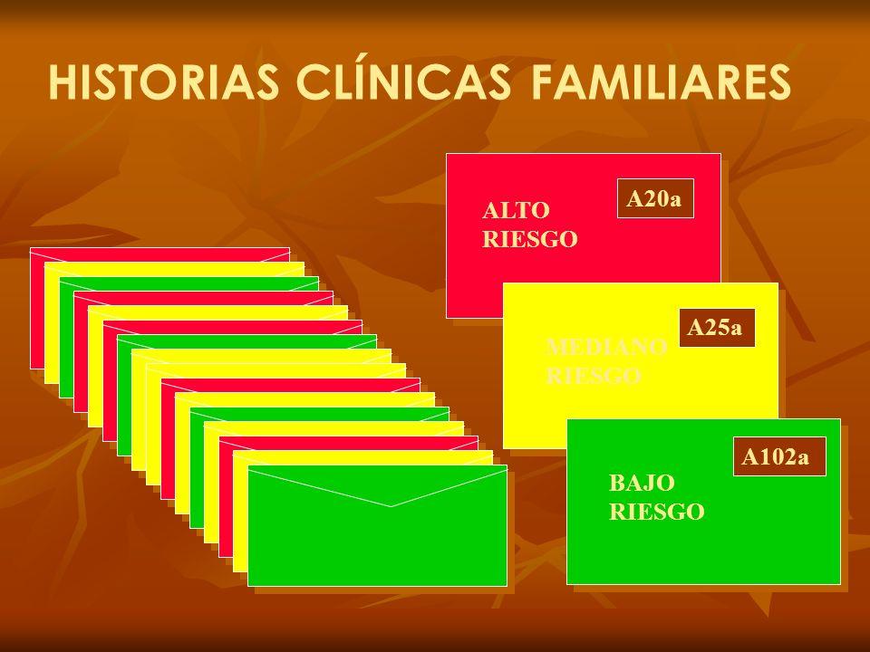 HISTORIAS CLÍNICAS FAMILIARES