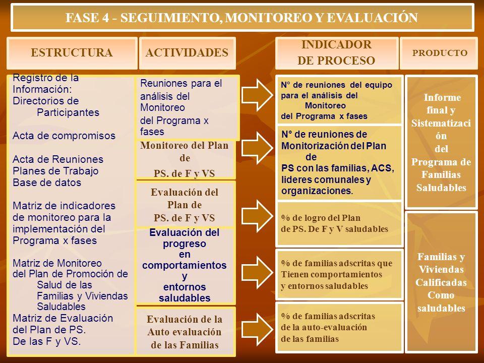 FASE 4 - SEGUIMIENTO, MONITOREO Y EVALUACIÓN