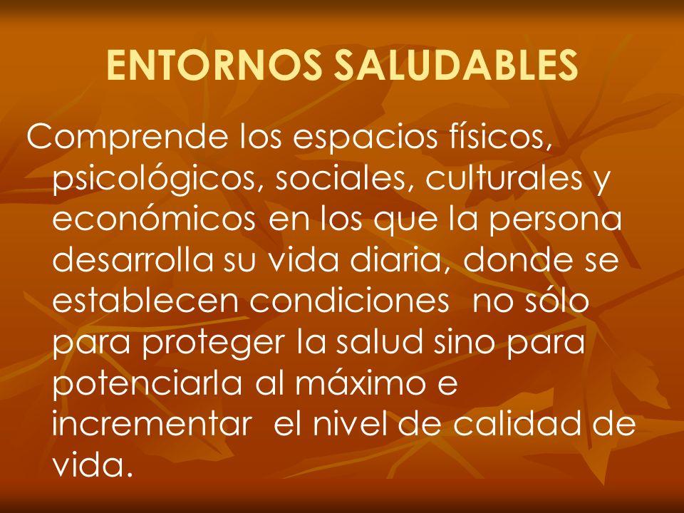 ENTORNOS SALUDABLES