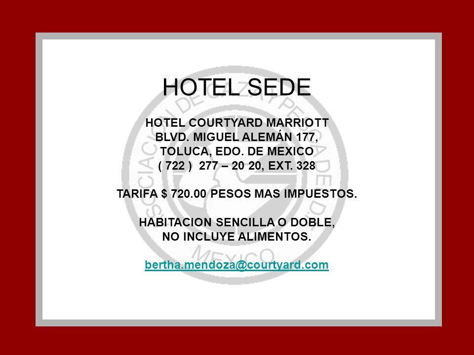 HOTEL SEDE HOTEL COURTYARD MARRIOTT BLVD. MIGUEL ALEMÁN 177,