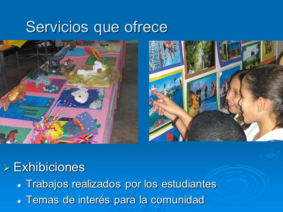 Servicios que ofrece Exhibiciones