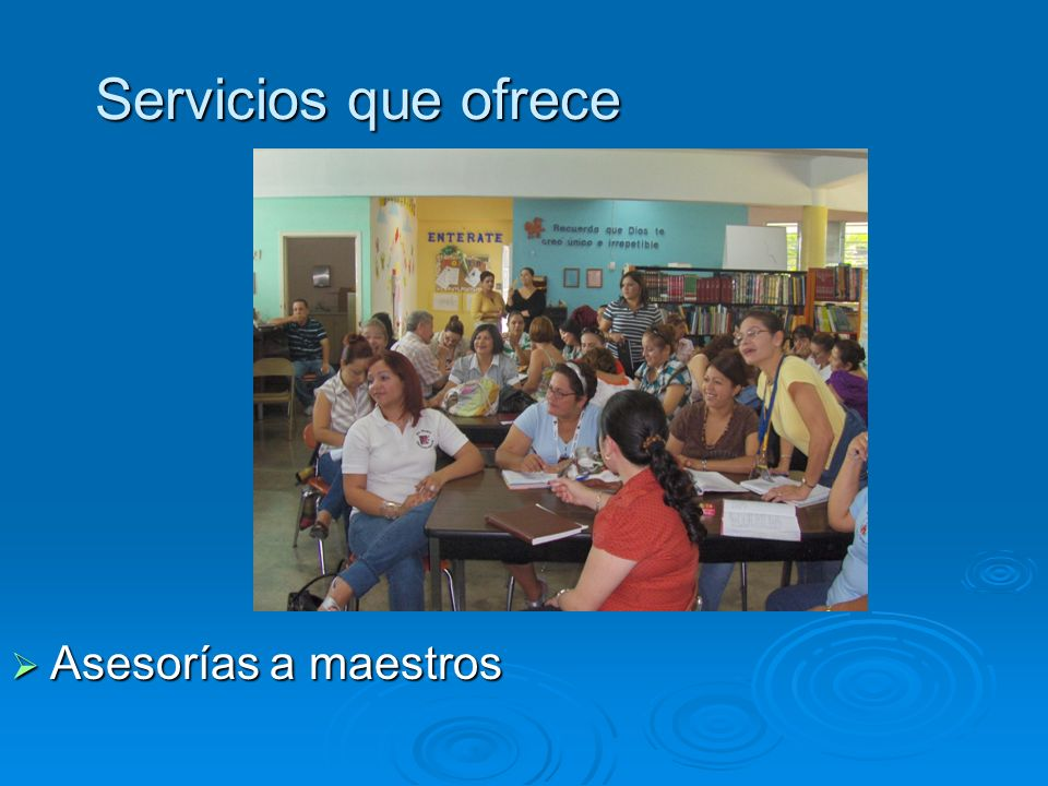 Servicios que ofrece Asesorías a maestros