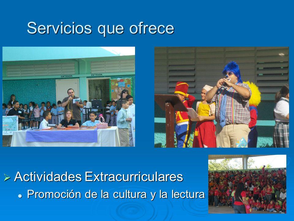 Servicios que ofrece Actividades Extracurriculares