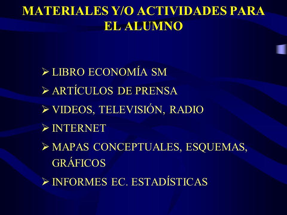MATERIALES Y/O ACTIVIDADES PARA EL ALUMNO