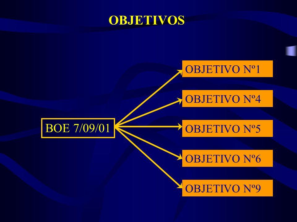 OBJETIVOS BOE 7/09/01 OBJETIVO Nº1 OBJETIVO Nº4 OBJETIVO Nº5