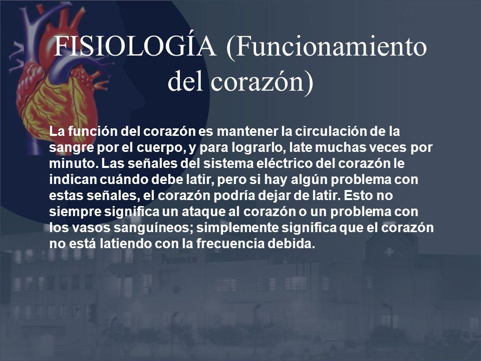 FISIOLOGÍA (Funcionamiento del corazón)