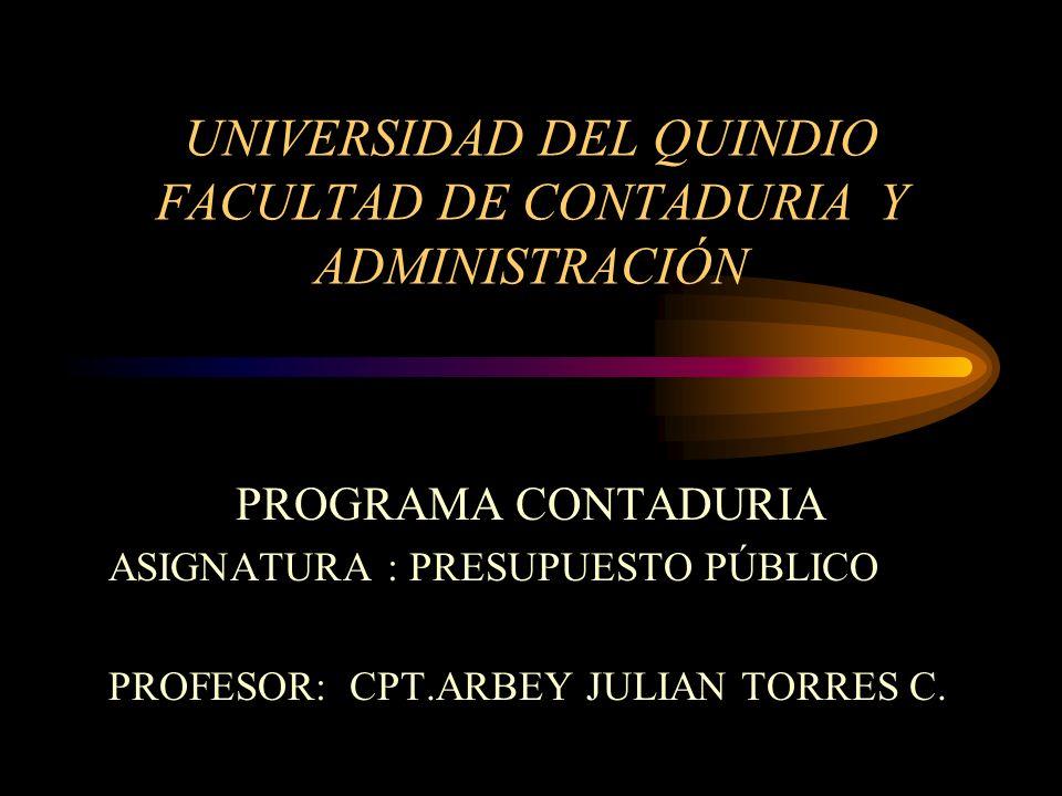 UNIVERSIDAD DEL QUINDIO FACULTAD DE CONTADURIA Y ADMINISTRACIÓN