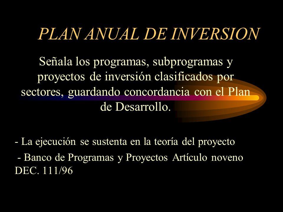 PLAN ANUAL DE INVERSION