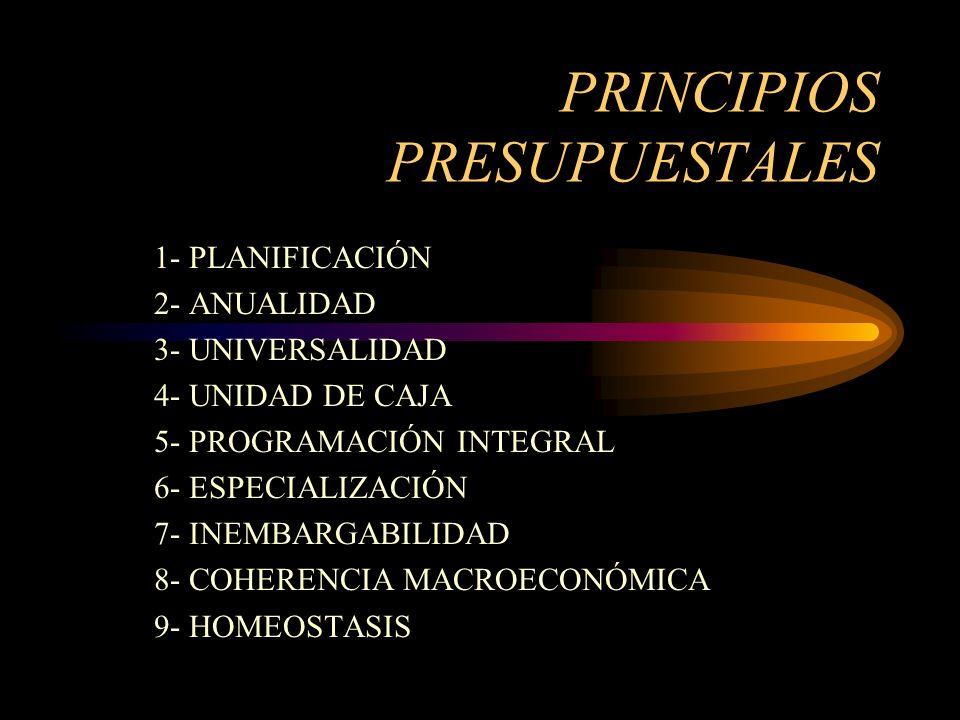 PRINCIPIOS PRESUPUESTALES