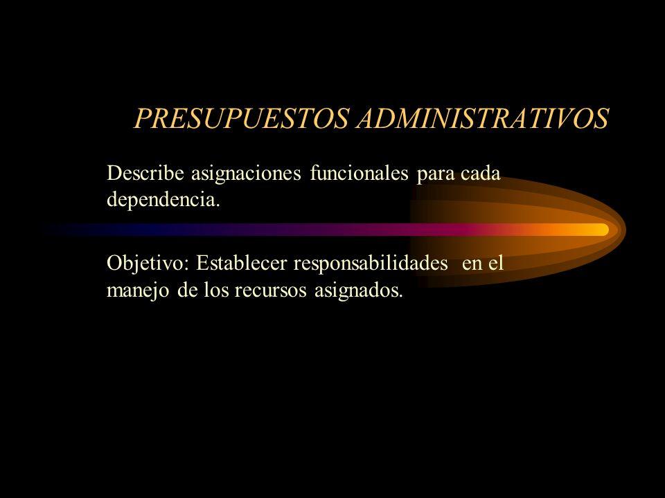PRESUPUESTOS ADMINISTRATIVOS