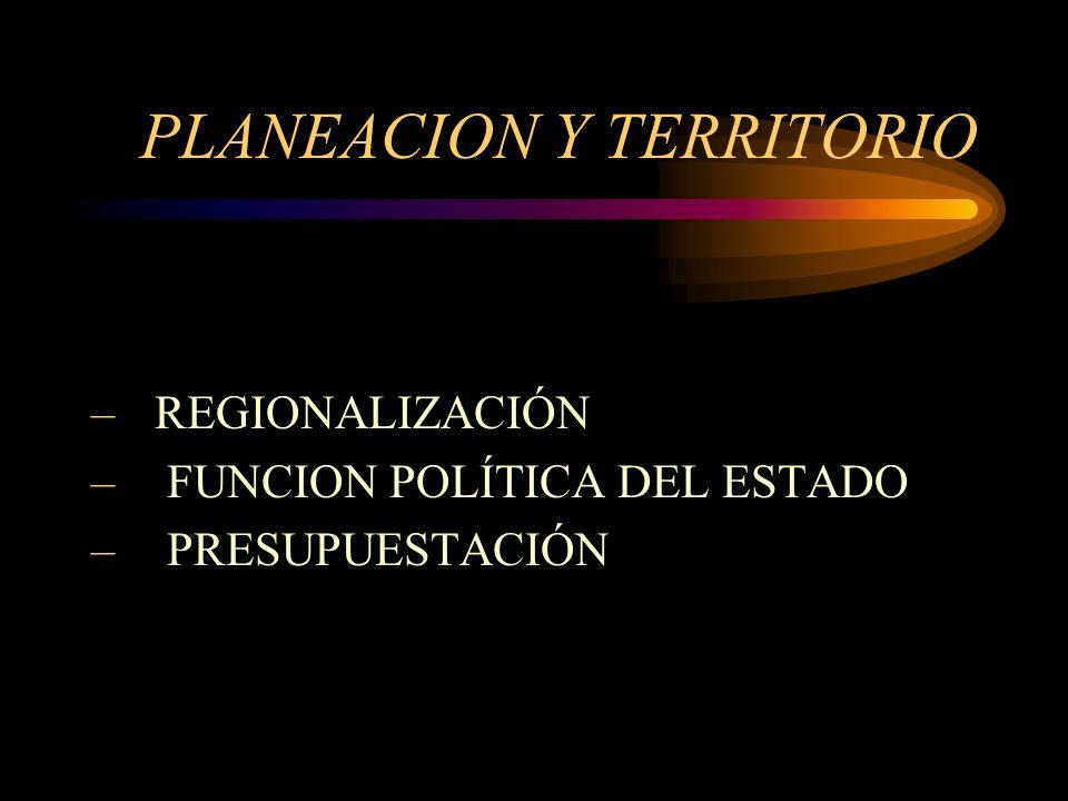 PLANEACION Y TERRITORIO