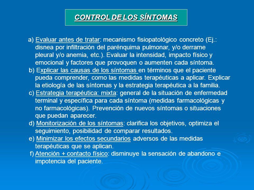 CONTROL DE LOS SÍNTOMAS