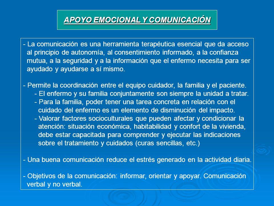 APOYO EMOCIONAL Y COMUNICACIÓN