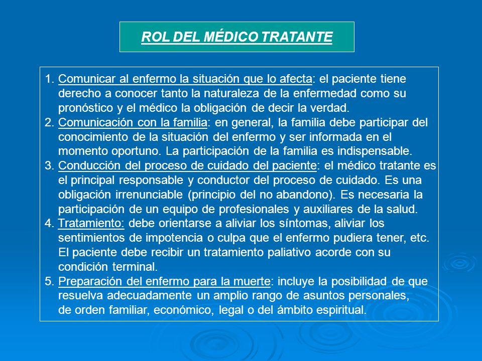 ROL DEL MÉDICO TRATANTE