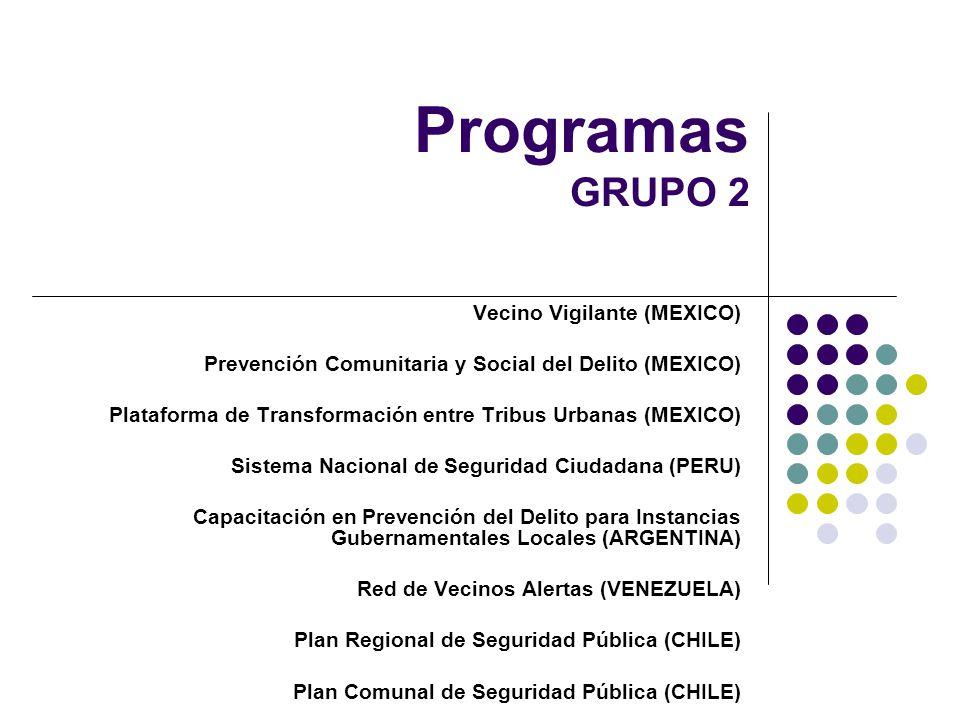 Programas GRUPO 2 Vecino Vigilante (MEXICO)