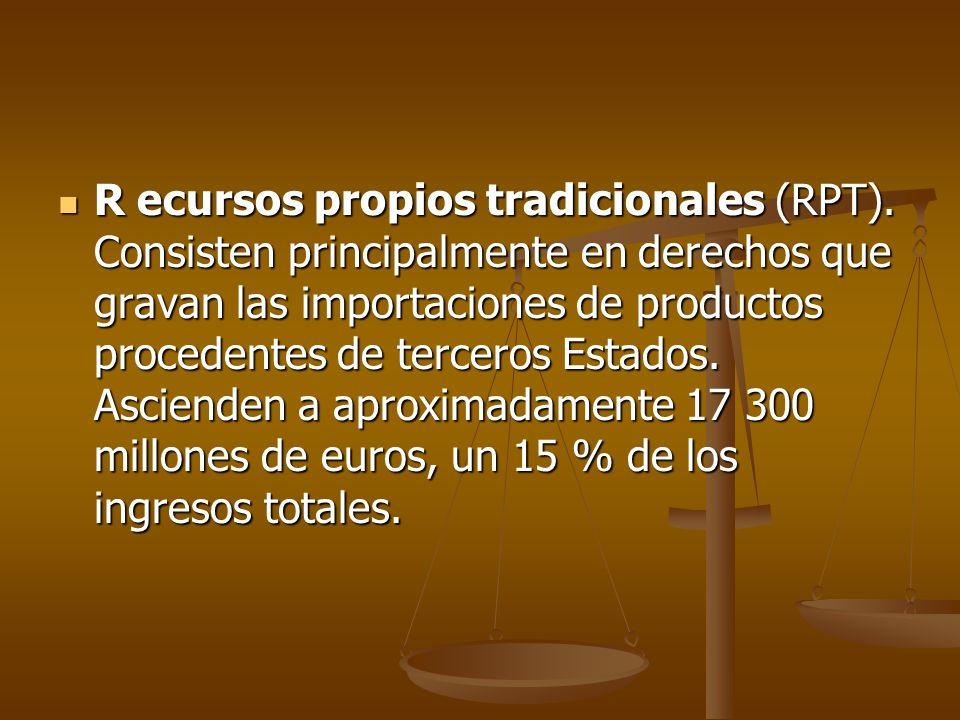 R ecursos propios tradicionales (RPT)